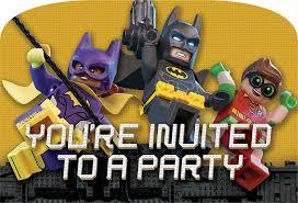 Lego Invitation Cards Dc Comics Lego Batman Movie Party Invitations 8pk Amazon Co Uk