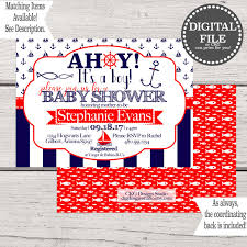 themes ahoy its a boy baby shower invitations templates also