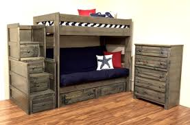 Bunk Bed With Mattress Rustic Futon Bunk Bed With Mattress Futon Bunk