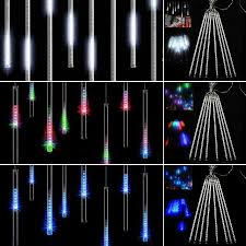 christmas lights that look like snow falling 8 falling rain drop icicle snow fall string led xmas tree cascading