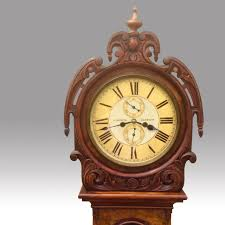 How To Transport A Grandfather Clock A Mid 19th Century Antique Scottish Victorian Burr Walnut Drum