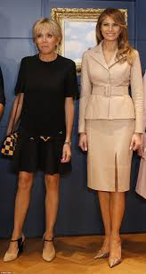 melania trump meets queen mathilde at royal palace daily mail online