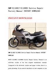 bmw k1100 lt k1100rs service repair factory manual instant download