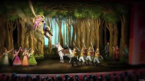 a closer look at the set designs for tangled the musical the