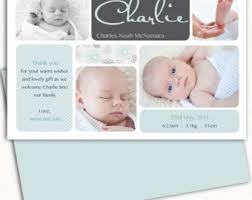 baby thank you cards photo birth announcement girl baby announcement printable
