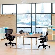 workstation desk wood veneer laminate contemporary x12