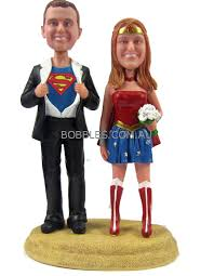 woman cake topper superman and woman cake topper