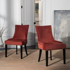 safavieh lester rust espresso 19 in h dining chair set of 2