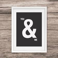 blackwhite youme wall art print simple style home decor art blog