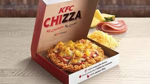 the chizza to singapore kfc rolls out chicken pizza