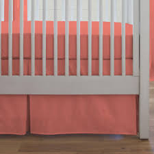 Bed Skirts For Cribs Crib Bed Skirt Solid Coral Lustwithalaugh Design How To Make