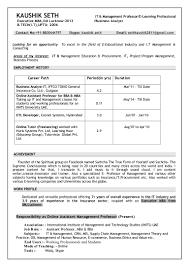 Resume Samples Bba Freshers by Kaushik New Resume 1 2