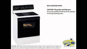 ge self cleaning oven tip youtube