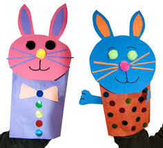 easter crafts puppet bunny crafts paper bag puppets hygloss