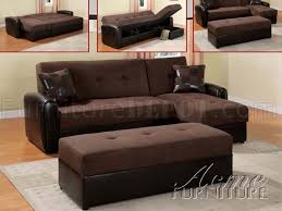 Reversible Sectional Sofa by Modern Microfiber Sectional Sofa 15775 Chocolate