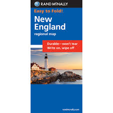 New England Map by Rand Mcnally Easyfinder Map New England