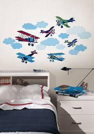 Plane Themed Bedroom by Wall Pops Wpk0629 Mighty Vintage Planes Wall Decals Decorative