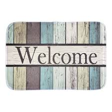 aliexpress com buy welcome funny doormat colorful striped
