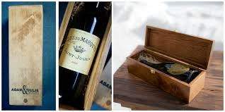 wine box wedding ceremony wedding wine boxes giveaway canadian mountain chic