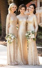 gold bridesmaid dresses sleeved sequin bridesmaid gown sequin bridesmaid