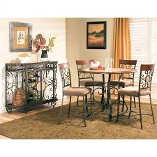 counter dining room sets steve silver thompson 5 piece counter dining table set in cherry