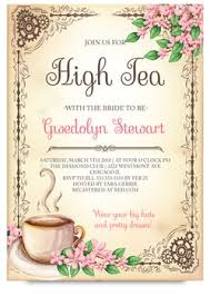 bridal tea party invitation high tea bridal tea party invitation