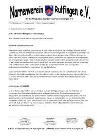 info schreiben nr 3 u2013 narrenverein rulfingen e v