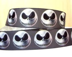 skellington ribbon nightmare before christmas ribbon etsy