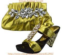 trading pattern shipping aliexpress com buy hot glitter italy matching shoe and bag set