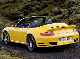 yellow porsche 2008 yellow porsche 911 turbo cabriolet wallpapers