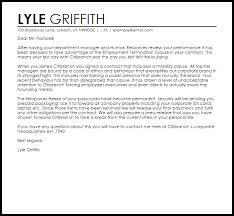 employment contract termination letter livecareer