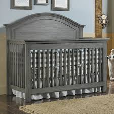 Grey Convertible Cribs Dolce Babi Lucca Panel Convertible Crib In Weathered Grey