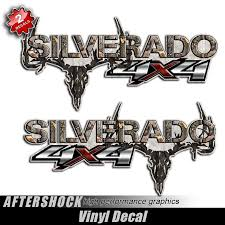 Ford Camo Truck Accessories - 4x4 silverado camo skull truck decals aftershock decals