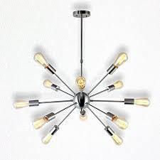 Modern Pendant Light Fixture Sputnik Chandelier 12 Lights Modern Pendant Lighting Brushed