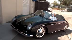 old porsche 356 porsche cayman does its best 356 impression in jay leno u0027s garage