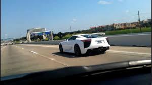 lexus coupe for sale houston tx lexus lfa v10 on beltway 8 houston texas youtube