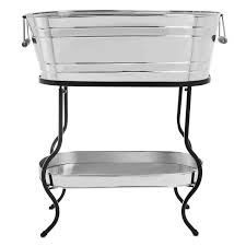 Oval Party Beverage Tub by Birdrock Home Stainless Steel Beverage Tub With Stand Oval Bottom