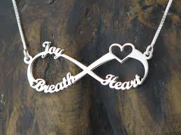 infinity necklace with name 3 names silver infinity necklace silver infinity name necklace