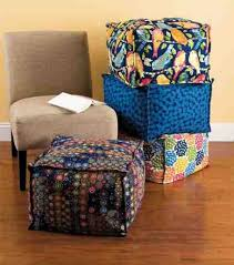 ottoman stack create your own floor cushion with fabric from