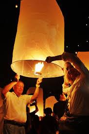 luck lanterns chiang mai lantern festival releasing bad luck and receiving luck