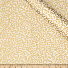 gold fabric jackie heavy metal collection cheetah metallic gold discount