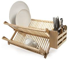Plastic Dish Drying Rack Amazon Com Core Bamboo Dish Rack With Utensil Holder Natural
