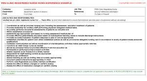 Registered Nurse Job Description Resume by Prn Clinic Registered Nurse Job Title Docs