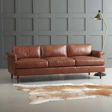 Leather And Tapestry Sofa Rustic Sofas You U0027ll Love Wayfair