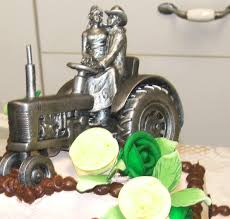 deere cake toppers silver tractording cake toppers deere pewter just hitched
