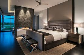 modern bedroom designs modern bedrooms designs ideas with indoor fireplace in the room