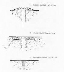 robert davis inc flush saddles at floor joints