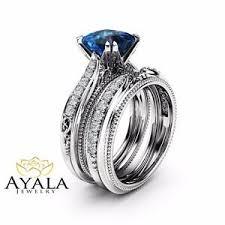blue topaz engagement rings london blue topaz engagement ring set princess topaz bridal set