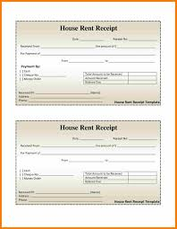 Receipt Payment Template Home Rental Receipt