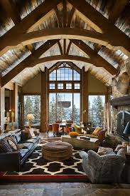 Lodge Living Room Decor by Best 25 Post And Beam Ideas On Pinterest Cabin Floor Plans